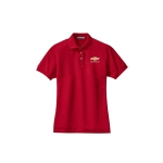 Ladies Chevy Red Knit Polo