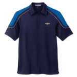 Navy with Blue/ Silver Edry Polo with Chevrolet Gold Bowtie