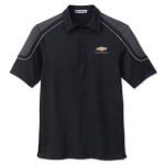 Black with Black/ Silver Edry Polo with Chevrolet Gold Bowtie
