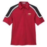 Red with Black/ Silver Edry Polo with Chevrolet Gold Bowtie
