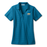 Ladies Horizontal Texture Polo Blue