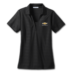 Ladies Horizontal Texture Polo Black