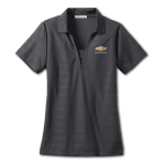 Ladies Horizontal Texture Polo Gray