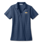 Ladies Horizontal Texture Polo Regatta Blue