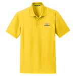 Yellow Performance Polo with Gold Bowtie