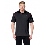 Carbon Fiber/ Red Moisture Wicking Polo w/ Open BT