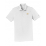 NIKE Dri-Fit White Polo w/GBT Chevrolet