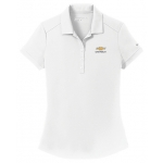 Ladies NIKE Dri-Fit White Polo w/GBT Chevrolet