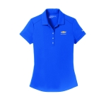 Ladies NIKE Dri-Fit Gym Blue Polo w/GBT Chevrolet