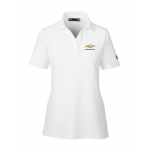 Ladies Under Armour Perf Polo White w/GBT Chevrolet