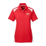 Ladies Under Armour Red/White Colorblock Polo w/GBT Chevrolet