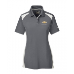 Ladies Under Armour Graphite/White Colorblock Polo w/GBT Chevrolet