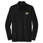 Ladies NIKE Chevrolet Long Sleeve Black Polo
