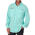 Columbia Bahama II L/S Chevrolet Shirt. Gulf Stream Green.