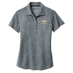 Ladies Chevrolet NIKE Golf Dri-Fit Crosshatch Polo. Cool Grey/ Anthracite.