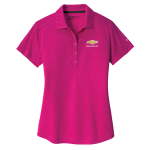 Ladies Chevrolet NIKE Golf Dri-Fit Crosshatch Polo. Fusion Pink/ Fireberry.