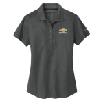 Ladies Chevrolet NIKE Golf Dri-Fit Crosshatch Polo. Anthracite/ Black.