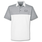 Under Armour Grey White Playoff Block Polo