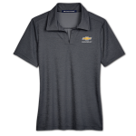 Ladies Black Heather Crownlux Chevrolet Polo