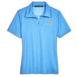 Ladies Ocean Blue Heather Crownlux Chevrolet Polo