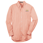 Plaid Easy Care Dress Shirt Orange