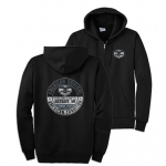 Black American Original Zip Up Hoodie