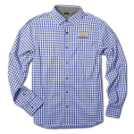 Blue Gingham 4-way Stretch Woven Chevrolet Shirt