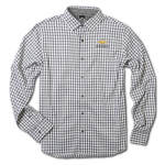 Grey Gingham 4-way Stretch Woven Chevrolet Shirt