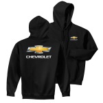 Black Hoodie with Gold Bowtie Chevrolet