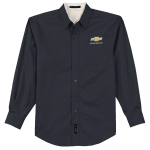 Classic Navy L/S Ease Care Shirt with Gold Bowtie