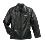 Ladies Black Lambskin Jacket with Gold Bowtie