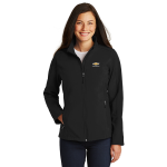 Ladies Black Soft Shell Chevrolet Jacket
