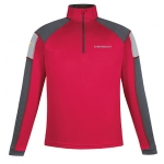 Red Performance Half Zip Chevrolet Pullover Jacket