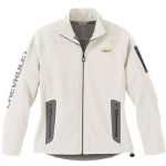 Ladies White Soft Shell Technical Chevrolet Jacket