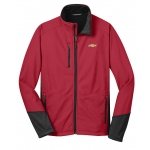 Rich Red Vertical Soft Shell Chevrolet Jacket