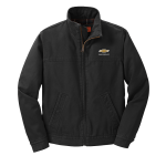 Black Washed Duck Cloth Chevrolet Work Jacket