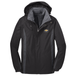 Black Chevrolet 3-IN-1 Jacket with Fleece Liner