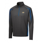 Charcoal/Royal Stretch Chevrolet 1/2 Zip
