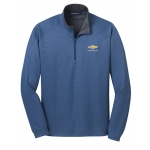Blue 1/4 Zip Soft Cotton Chevrolet Pullover Jacket