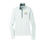 Ladies NIKE Stretch 1/2 Zip Cover Up White/Dk Grey