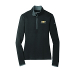 Ladies NIKE Stretch 1/2 Zip Cover Up Black/Dk Grey