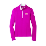 Ladies NIKE Stretch 1/2 Zip Cover Up Fuchsia/White