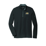 NIKE Stretch 1/2 Zip Cover Up Black/Dark Grey