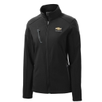 Ladies Black Soft Shell Jacket w/GBT Chevrolet