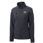 Ladies Grey Soft Shell Jacket w/GBT Chevrolet