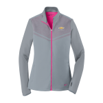 Ladies NIKE Grey/Pink Therma-FIT Chevrolet Full Zip