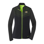 Ladies NIKE Black/Green Therma-FIT Chevrolet Full Zip
