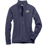 Ladies Chevrolet Sweaterfleece Jacket Navy