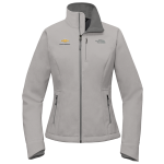 Lds Lt. Grey Hth North Face Apex Soft Shell Jacket