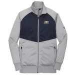 Men's The North Face® Mid Grey/Navy Tech Full-Zip Fleece Jacket